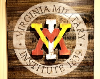 3d89e26dfe24 Vintage, Distressed VMI -Virginia Military Institute- Sign