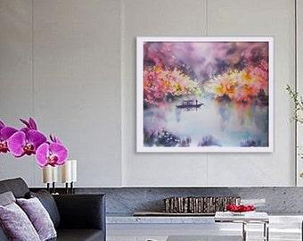 Original Silk Painting - Spring Blossom - Painting on Silk