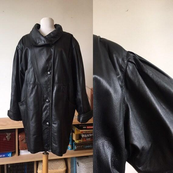 Coat - lamb leather jacket 90s