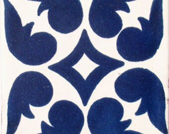 C#050))  Mexican Ceramic 4x4  inch Hand Made Tile
