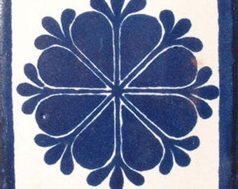C#016))  Mexican Ceramic 4x4  inch Hand Made Tile