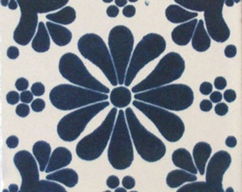 C#070))  Mexican Ceramic 4x4  inch Hand Made Tile