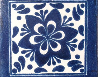 C#009))  Mexican Ceramic 4x4  inch Hand Made Tile