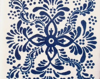 C#039))  Mexican Ceramic 4x4  inch Hand Made Tile