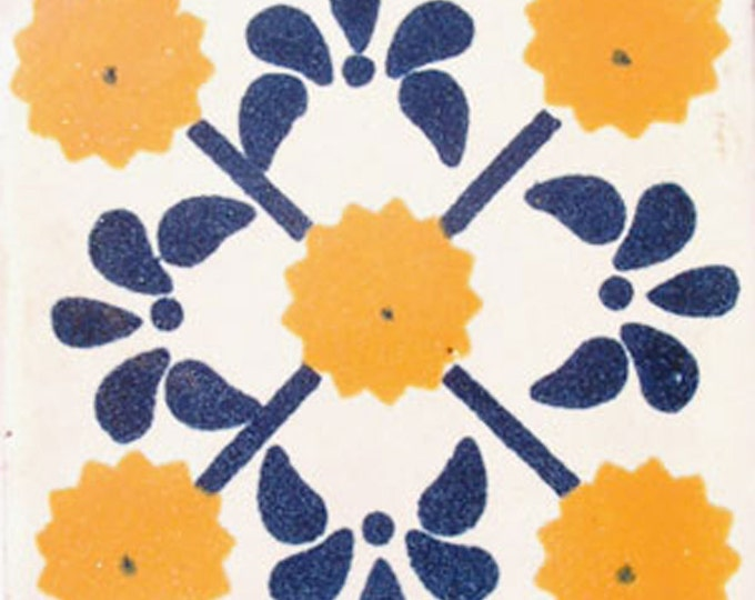 C#030))  Mexican Ceramic 4x4  inch Hand Made Tile
