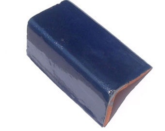 1 V cap tile 2x2x4 inch Mexican Ceramic Hand Made Tiles #S006