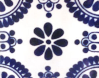 C#093))  Mexican Ceramic 4x4  inch Hand Made Tile