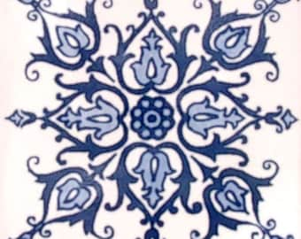 C#088))  Mexican Ceramic 4x4  inch Hand Made Tile