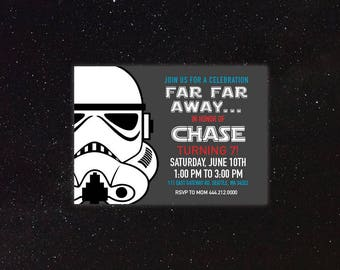 Star Wars - Storm Trooper - Birthday Invitation
