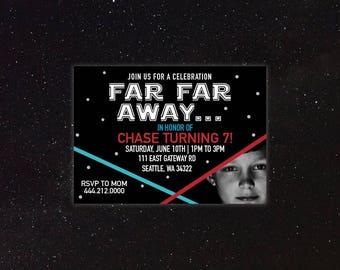 Star Wars - Lightsaber - Birthday Invitation