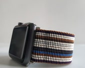 Retro Striped Watch Band for Apple watch iWatch Band 38-40mm 42-44mm multi colored Elastic Band Activewear BOHO Hippie Athleisure Unisex