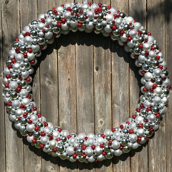 GIGANTIC 4 Foot Luxury Ornament Wreath Bauble Wreath | Etsy