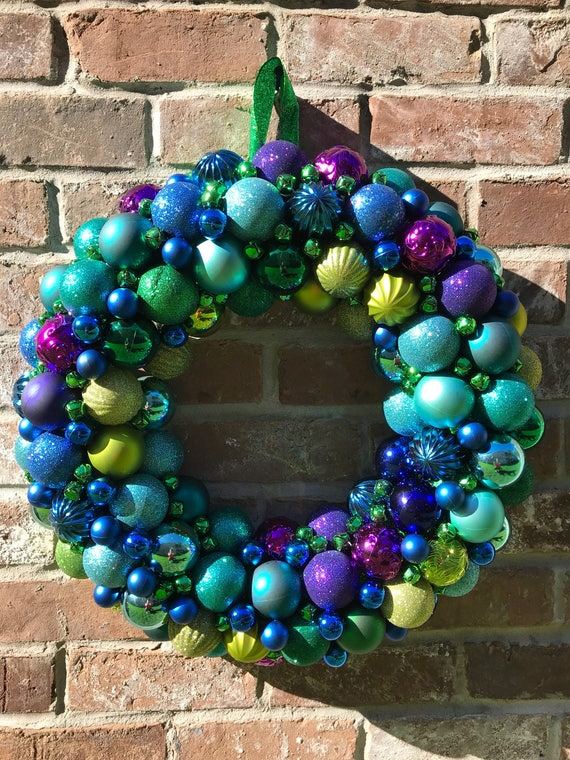 image 0 - Purple And Lime Green Christmas Decorations