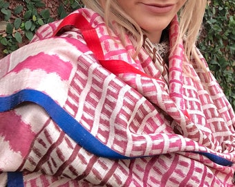 Hand Woven Silk Stole - PavoSF