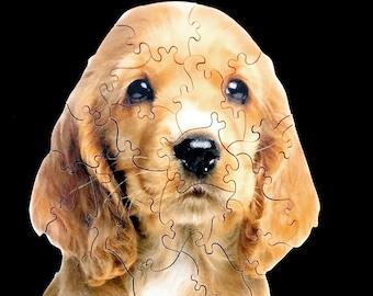 Golden Retriever Puppy Dog wooden jigsaw puzzle - Golden Puppy - Golden Dog - Golden Retrievers  - Hand Cut Puzzle - Golden Retriever