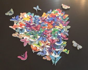 Wildheart Butterfly - HAND CUT wooden jigsaw Puzzle - Butterfly Art for a Woman -Decor decorations - Unique butterfly Gifts for Mom
