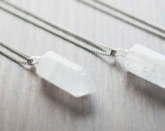 Quartz pendant, mineral pendant, quartz necklace, quartz pendant
