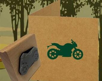 Motorbike Rubber Stamp