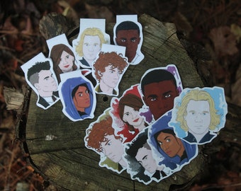 DISCONTINUING Six of Crows Magnetic Bookmark and Sticker Set