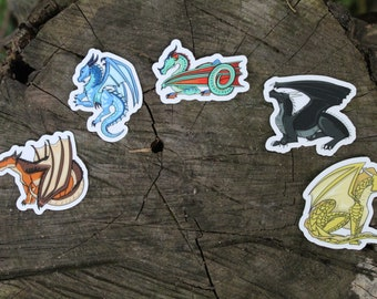 Wings of Fire DRAGONETS OF DESTINY Vinyl Stickers