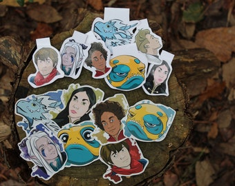 DISCONTINUING The Dragon Prince Magnetic Bookmark, Stickers, and Mini Stickers Set