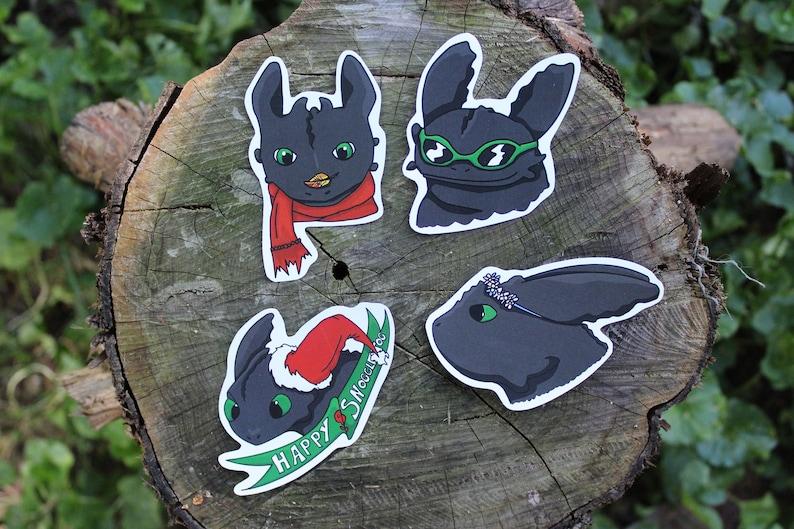 Viking Dragon Riders Seasonal Toothless Stickers