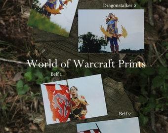 "World of Warcraft 4"" x 6"" Cosplay Prints Blood Elf Hunter Sylvanas Windrunner"