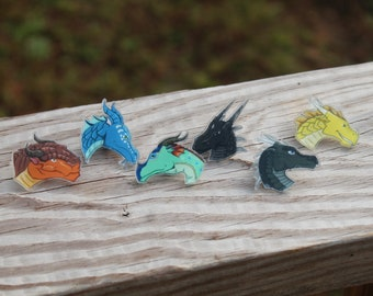 Wings of Fire DRAGONETS OF DESTINY Acrylic Pins