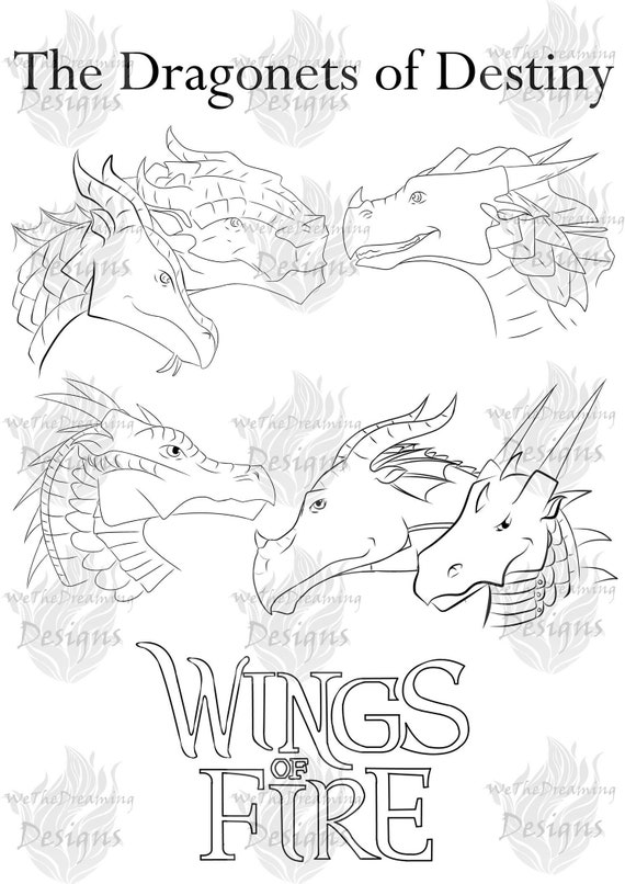 - Wings Of Fire DRAGONETS OF DESTINY Printable Coloring Page Etsy