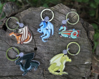 Wings of Fire DRAGONETS OF DESTINY Acrylic Keychains