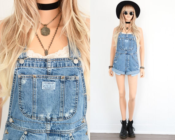 Levi Denim Overall Shorts Denim Overalls Women Ove