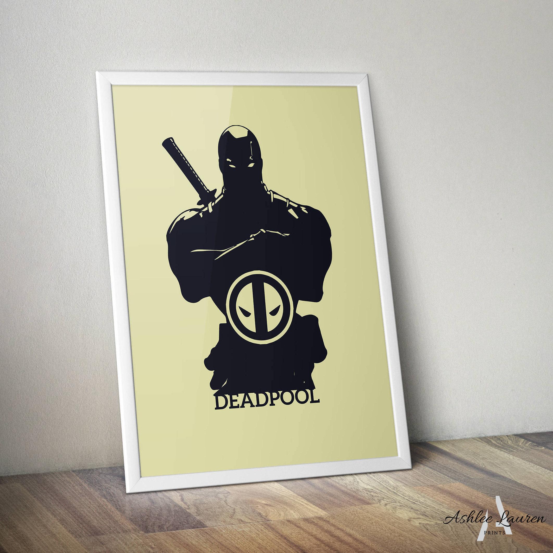 Deadpool Inspired Poster Print Digital Download Wall Art | Etsy