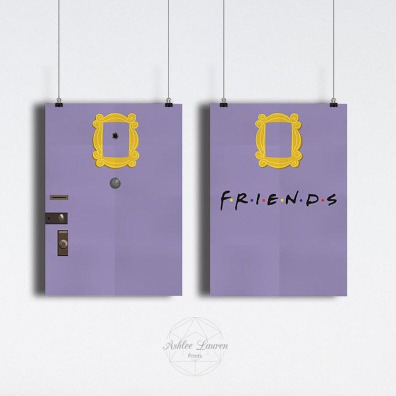 Friends Monica/'s Wohnung Tür Portemonnaie Geldbörse Lila