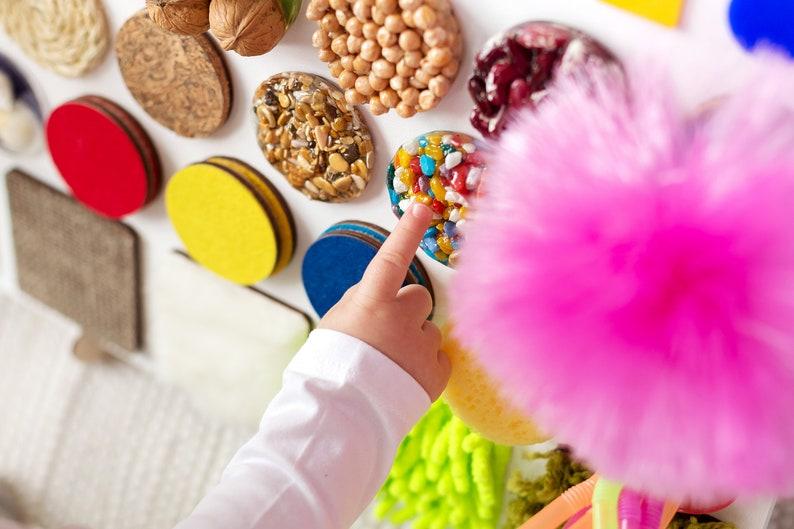 Junta ocupada Placa sensorial Materiales Montessori image 3
