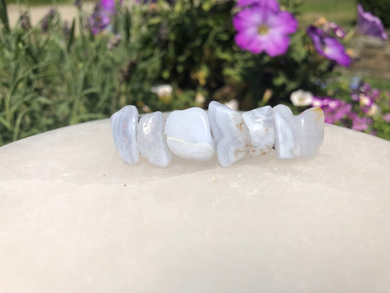 Blue Lace Agate Crystal barrette