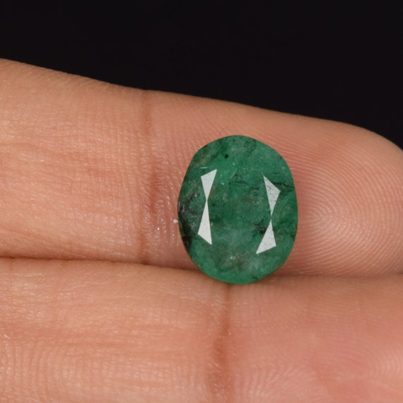 2.80 Ct. Natural Emerald, 11mmx9mm Emerald, Genuine Colombian Certified, Oval Cut Loose Gems, Columbian Emerald, Loose Emerald Gems DJ-501