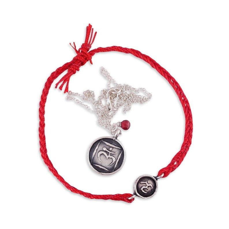 Root Chakra Jewelry Bracelet /& Necklace Set Yoga Jewelry For Women Chakra Jewelry Bohemian Jewelry Silver