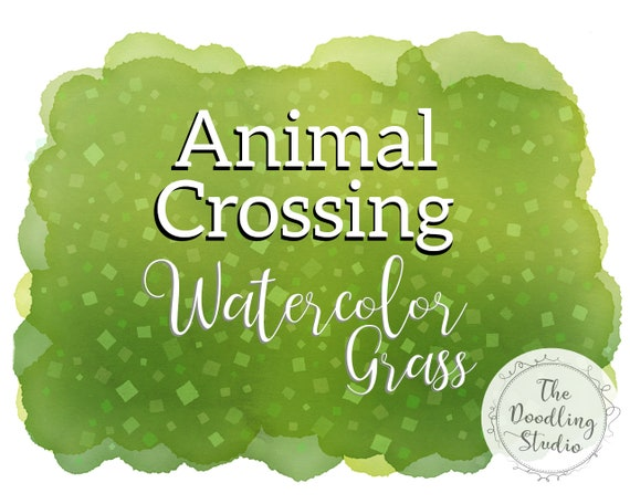 Animal Crossing Watercolor Grass Backgrounds Grass Dirt And Etsy