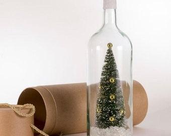 christmas bottle decor wine bottle decor tabletop lights christmas decorations wine bottle lights white lights christmas tree