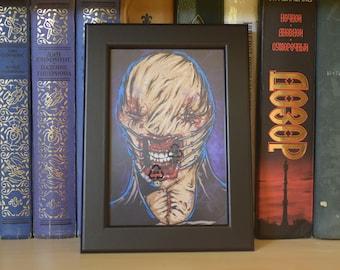 Chatterrer Mini Print (horror art print cenobite hellraiser butterball laments configuration poster frame clive barker doug bradley)