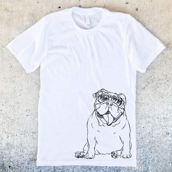 Too Cool English Bulldog Unisex T-shirt - 3 Color Options - Dog Owner Gift, Dog Lover Gift, English Bulldog Lover, Bully Shirt