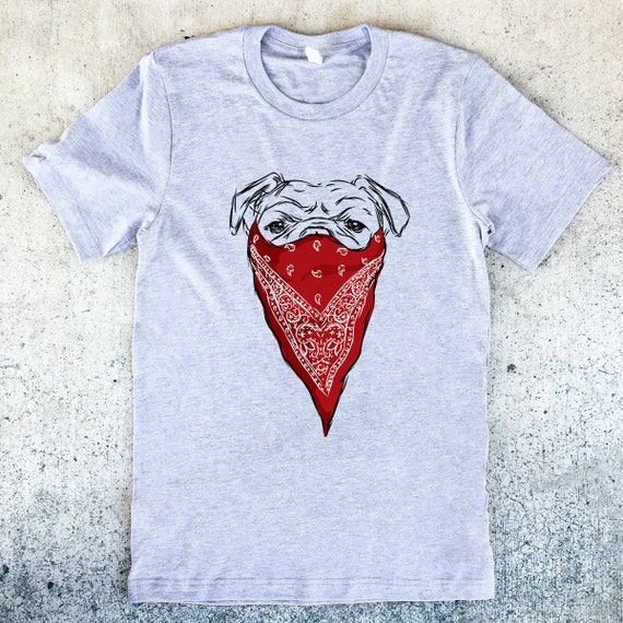 Red Bandit English Bulldog Unisex T-shirt - 3 Color Options - Dog Owner Gift, English Bulldog Lover, Bully Shirt, Dog Gangster Shirt