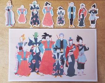 Dragonball Z - Stickers & Art Print Combo