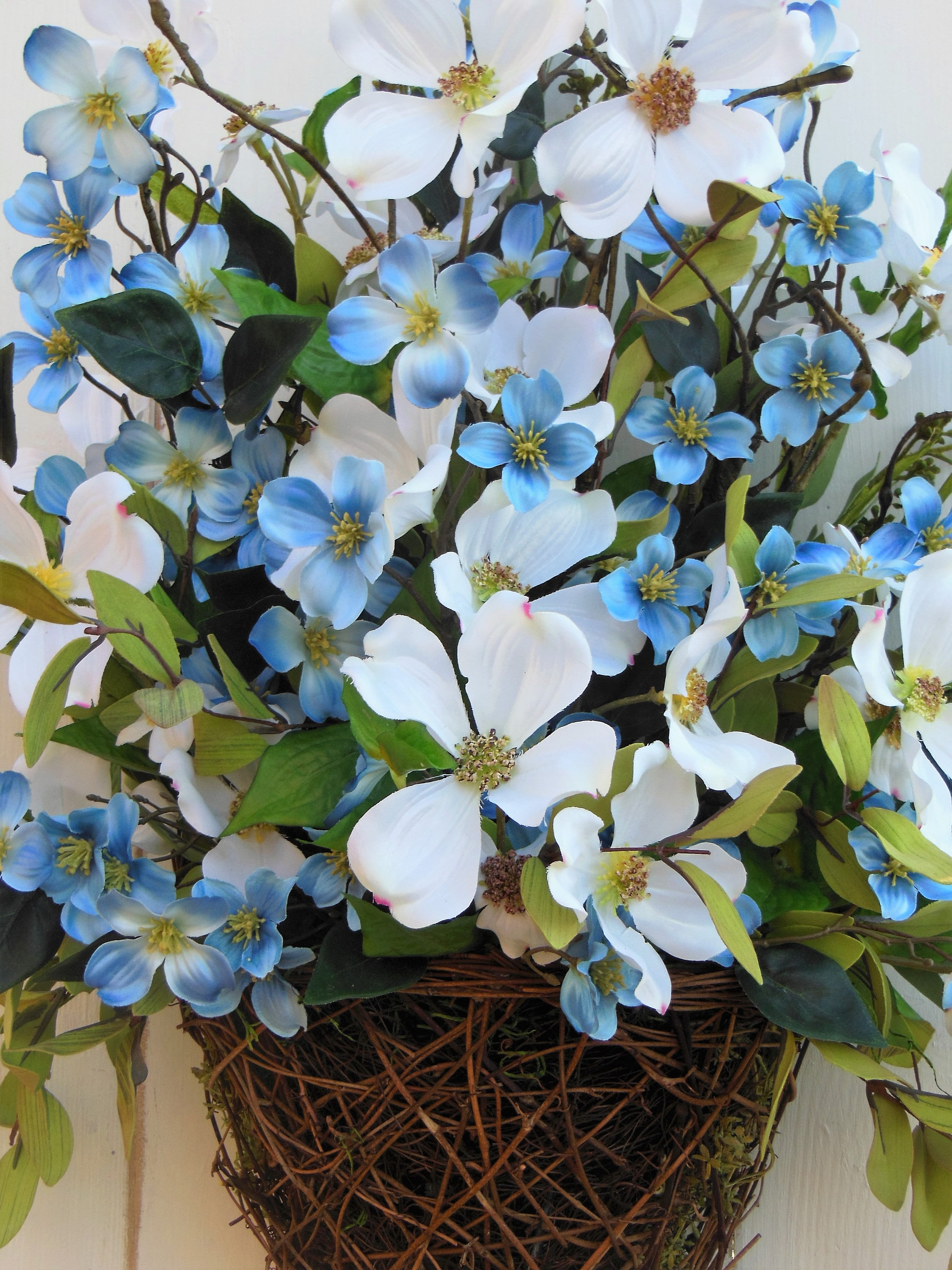 Front door wreath door basket blue flower wreath summer wreath gallery photo gallery photo gallery photo gallery photo gallery photo izmirmasajfo
