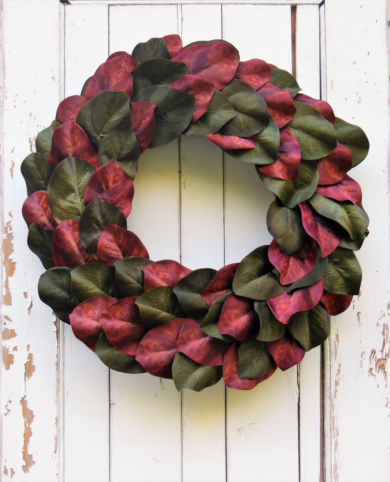 Magnolia Wreath Fall Wreath Fall Door Wreath Autumn Wreath Etsy