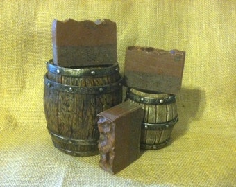 Hazelnut Cappuccino Soap. Cocoa Butter & Colloidal Oatmeal. Full Size Bar. Artisan Soap. Cold Process Soap.