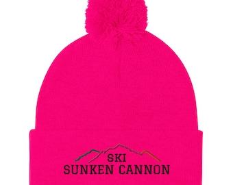 Collegiate Peaks Ski SCB Pom-Pom Beanie