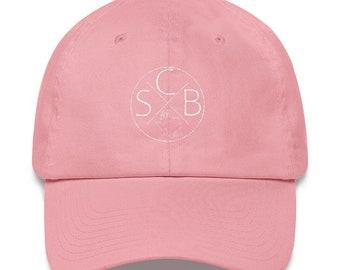 """SCB """"Circle X"""" Dad hat (white)"""