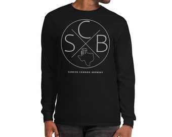 SCB Circle X Gray Logo  Long Sleeve T-Shirt