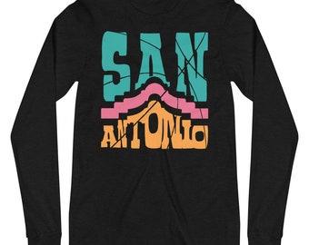 San Antonio Funky Alamo Basketball Long Sleeve Tee